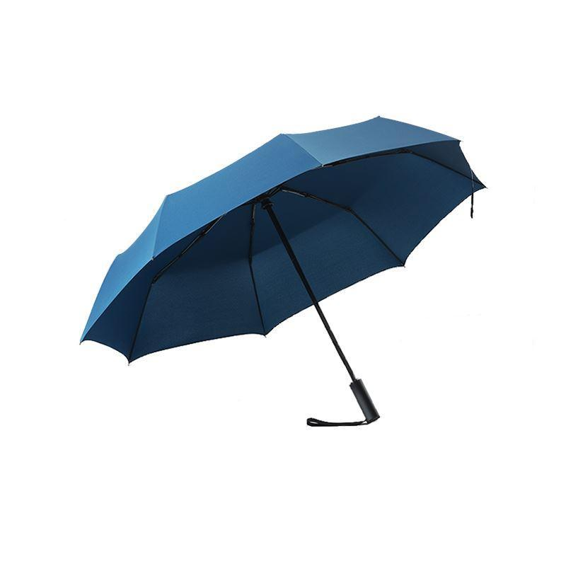 Automatic Open & Close Compact Travel Umbrella with Contour Handle Sports & Travel LIFEASE Navy