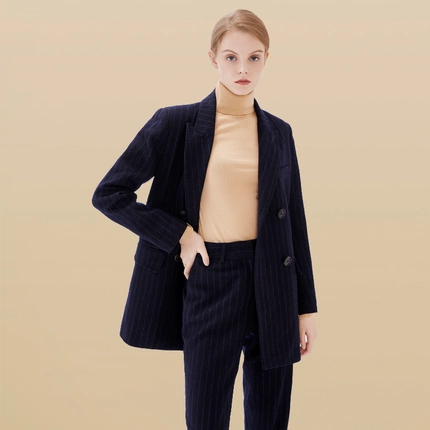 Women's Casual Suit Set (Suit/Trousers)