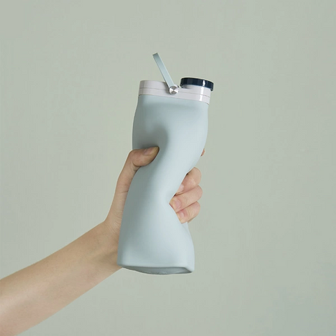 [Minimum 2 Per Order] Folding Silicone Sports Water Cup - 400ml/600ml