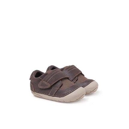 Baby Toddler Leather Shoes for 6-24 Months Baby Care LIFEASE Brown 4.9 Inch