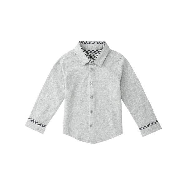 Baby's Button Down Shirt for 3 months to 3 Years Old Baby Care LIFEASE Grey 2.39 feet (6-9 Months Old)