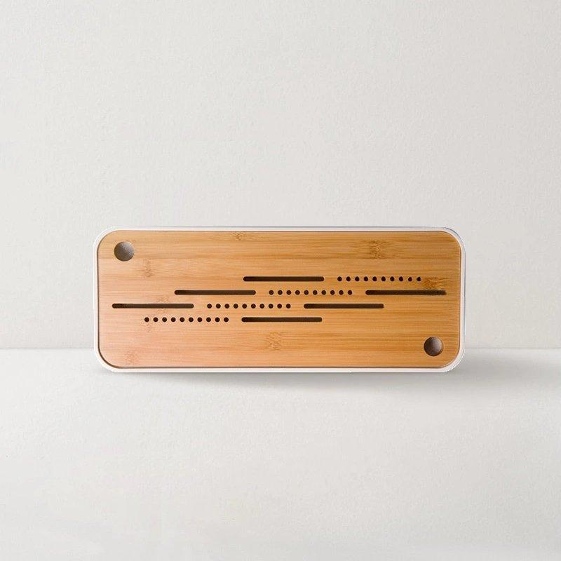 Bamboo Tea Tray with Drainage Home & kitchen LIFEASE
