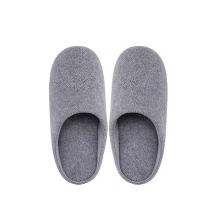 Basic Lightweight Home Slippers Holiday special LIFEASE Grey Men M (US 7.5-8)