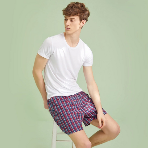 Men's Woven Cotton Home Shorts