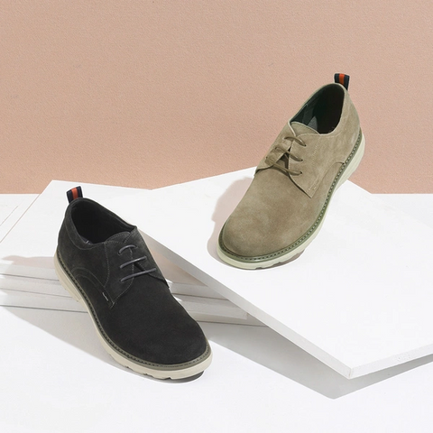 Men's Suede Casual Light Derbys