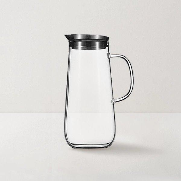 Borosilicate Glass Pitcher With Lid Home & kitchen LIFEASE