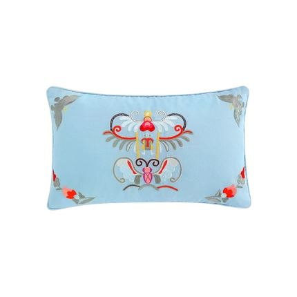 Butterfly Embroidered Pillowcase Home & kitchen LIFEASE Blue 11.8x19.6 Inch