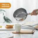 Buy 1 Get 1 Free- Stainless Steel 3QT Cooking Pot With Wooden Handle [Made In Japan] - Lifease
