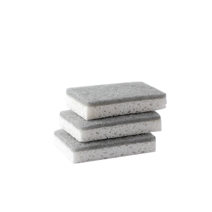 Kapok Fiber Dishwashing Sponge Set of 3