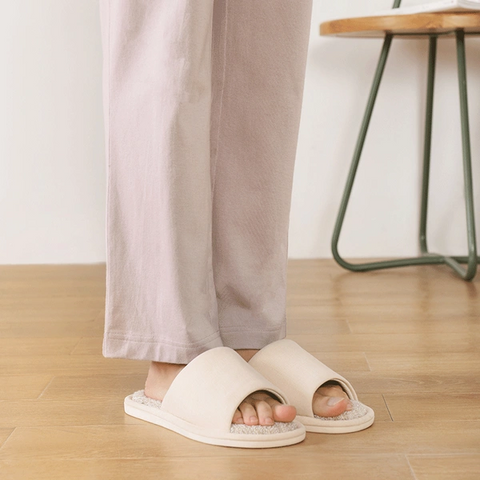 Cooling, Hygienic Open-Toe Slippers