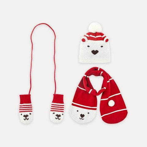 Children's 3 Piece Beanie Hat, Scarf and Glove Set Baby Care LIFEASE