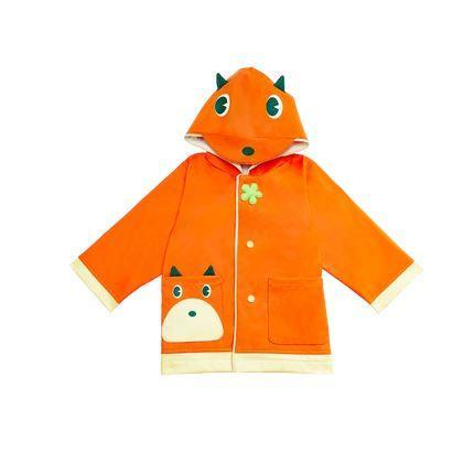 Children's Cartoon Raincoat 2-7 Years Old Baby Care LIFEASE Fox *S 35-39 inch