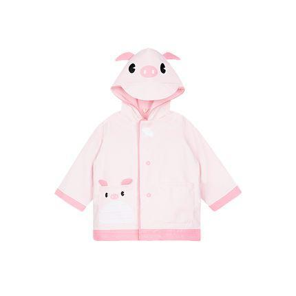 Children's Cartoon Raincoat 2-7 Years Old Baby Care LIFEASE Piglet *S 35-39 inch
