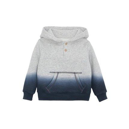 Children's Gradient Hoodie for 1-8 Years Old Baby Care LIFEASE Grey/Blue 2.62 feet
