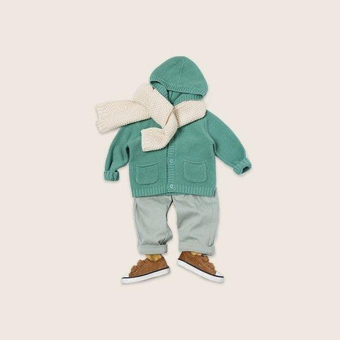 Children's Hooded Knitted Sweater for 1-8 Years Baby Care LIFEASE