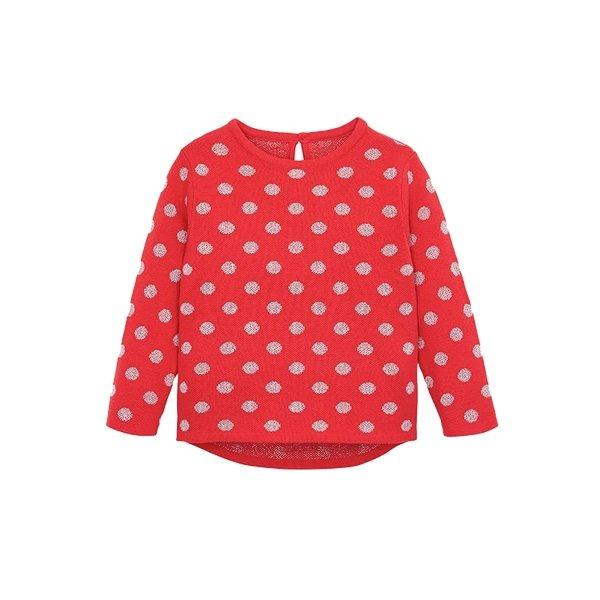 Children's Sweater for 1-8 Years Old Baby Care LIFEASE Red 2.62 feet