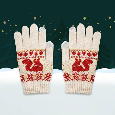 Christmas Edition Touch Screen Knitted Gloves Apparel shoe bag LIFEASE