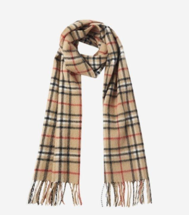 Classic Plaid Pure Cashmere Scarf Apparel shoe bag Lifease Camel with small plaid