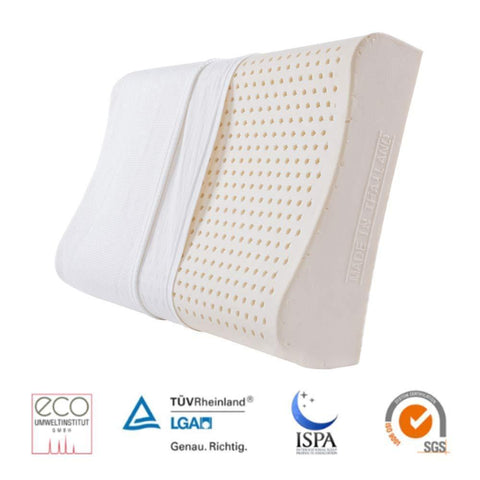 【Use code:MEMORIAL28, Buy 2 Get 20% off】[Made in Thailand] Natural Latex Contour Pillow for Neck Pain Relief