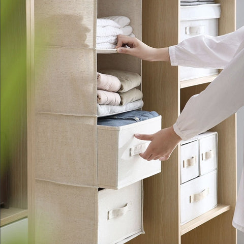 Cotton and Linen Storage Bag Home & kitchen LIFEASE