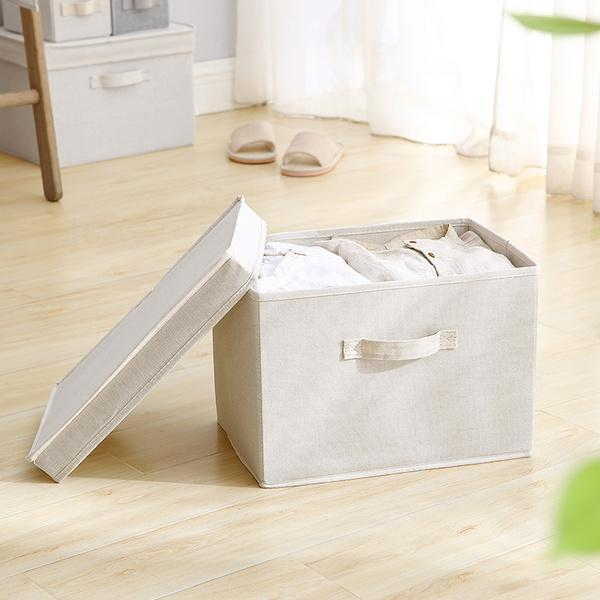 Cotton and Linen Storage Box Home & kitchen LIFEASE