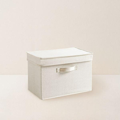 Cotton and Linen Storage Box Home & kitchen LIFEASE With cover 15x11x10 inch