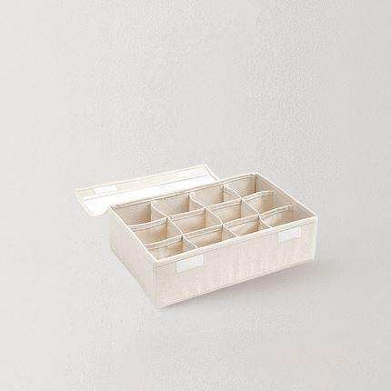 Cotton and Linen Storage Box with cover Home & kitchen LIFEASE