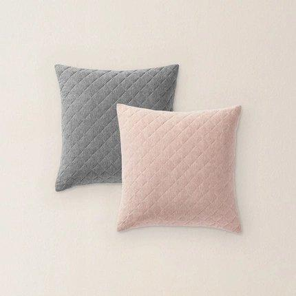 Cotton Knitted Quilted Pillowcase Home & kitchen LIFEASE