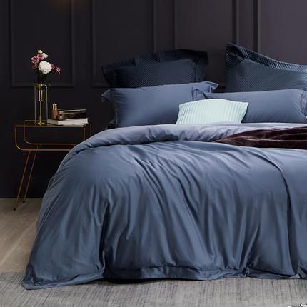 Cotton Satin 4-Piece Bedding Set with Duvet Cover - Queen/King - Fitted/Flat Home & kitchen LIFEASE