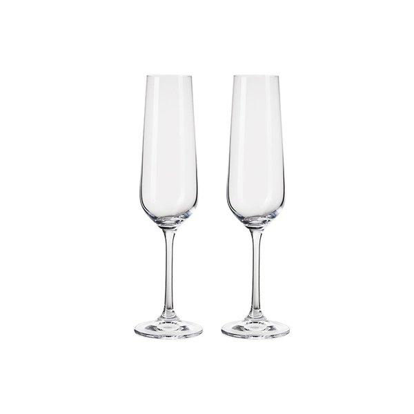 Crystal Champagne Glass 2 Sets [Made in Czech Republic] Home & kitchen LIFEASE 2 pieces