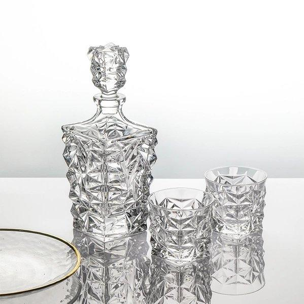 Crystal Glass Spirits Set [Made in the Czech Republic] Home & kitchen LIFEASE