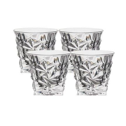 Crystal Glass Spirits Set [Made in the Czech Republic] Home & kitchen LIFEASE Glasses (Set of 4)