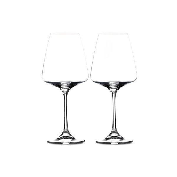 Crystal Red Wine Glass Set of 2 [Made in Czech Republic] Home & kitchen LIFEASE 450ml (2 pieces)