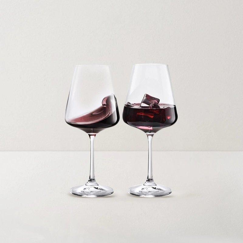 Crystal Red Wine Glass Set of 2 [Made in Czech Republic] Home & kitchen LIFEASE