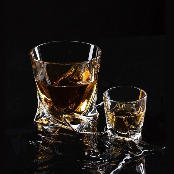Crystal Whiskey Glass [Made in Czech Republic] Home & kitchen LIFEASE