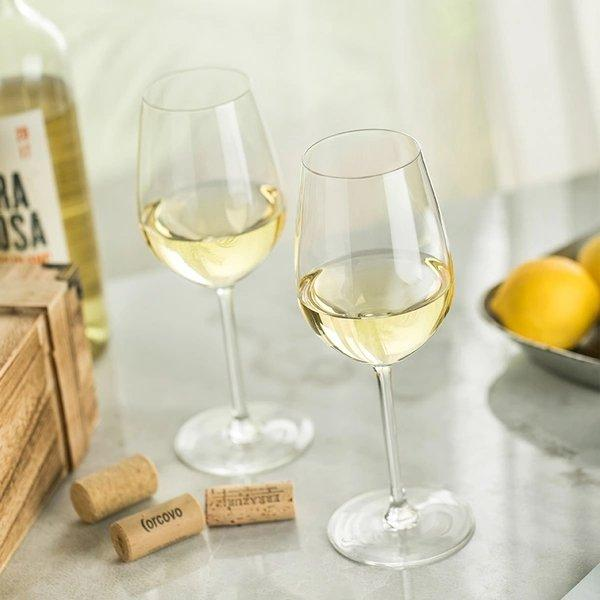 Crystal White Wine Glass Set of 2 Home & kitchen LIFEASE