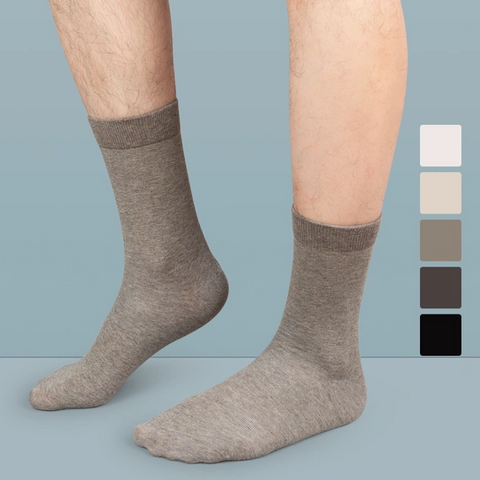 Men's 100% Cotton Medium-Length Socks