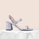 Women's Block Heeled Sandals with Pearl