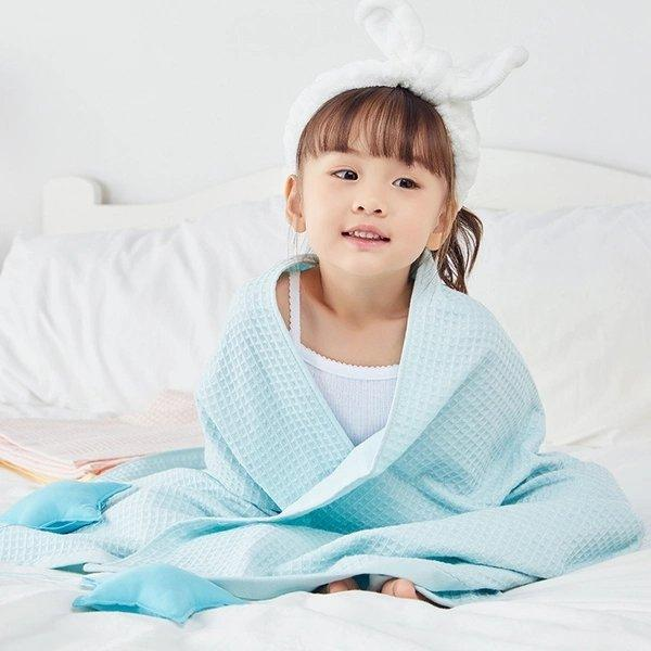 Double- Layer Cotton and Waffle Weave Gauze Towel Baby Care LIFEASE