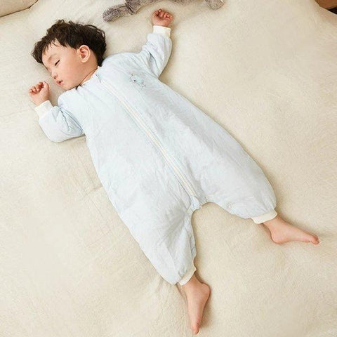 Double-Layer Gauze Split Leg Sleeping Bag for baby Baby Care LIFEASE