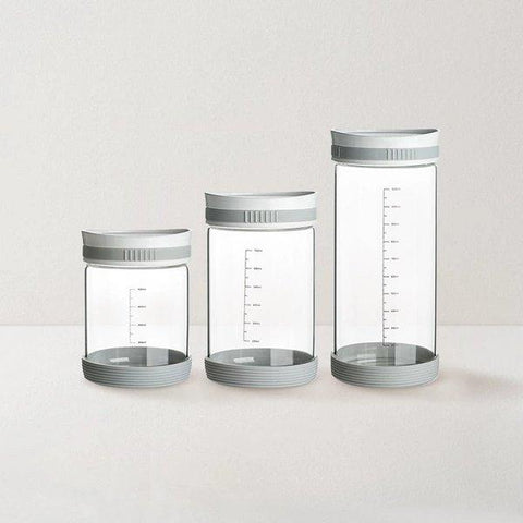 Double Moisture-proof Borosilicate Glass Sealed Jar Home & kitchen LIFEASE