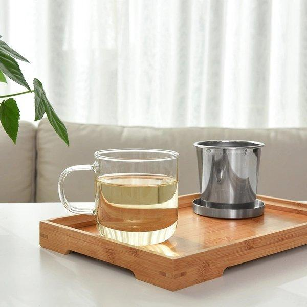 Dual-Use Glass Tea Cup Home & kitchen LIFEASE