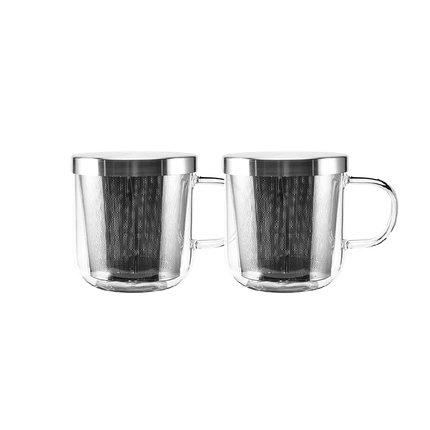 Dual-Use Glass Tea Cup Home & kitchen LIFEASE 360ml*2