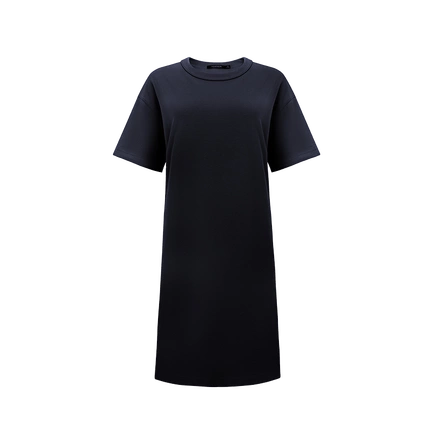 Women's Round Neck Short Sleeve T-shirt Dress