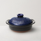 [Made in Japan] Multifunction Ceramic Clay Pot - White/Blue 0.5L