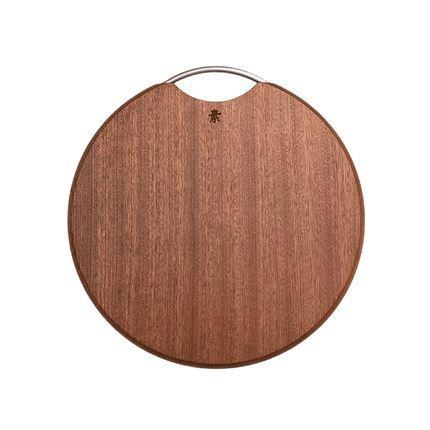 Ebony Wood Chopping Board Home & kitchen LIFEASE Round section φ14*1.2 inch