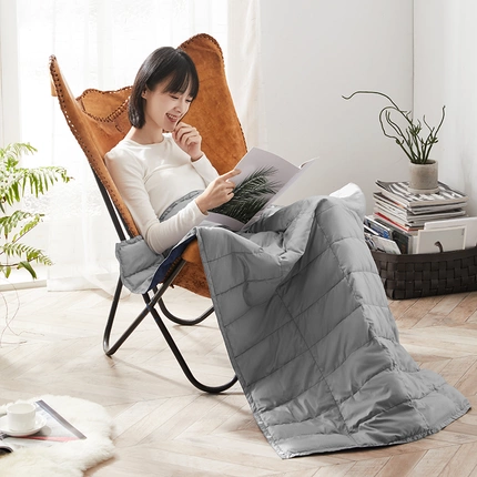 "Two in One Pillow and Travel Comforter, Mulipurpose and Lightweight (34.6"" x 55.11"")"