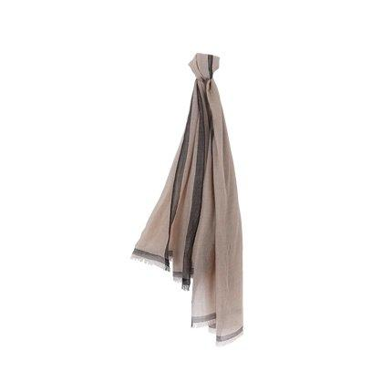 Elegant and Soft Wool Scarf/Shawl Apparel shoe bag LIFEASE Brown