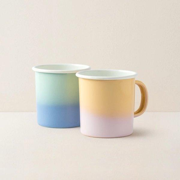 Enamel Camping Coffee Mug Home & kitchen LIFEASE