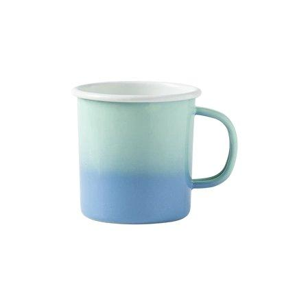 Enamel Camping Coffee Mug Home & kitchen LIFEASE Blue/Green